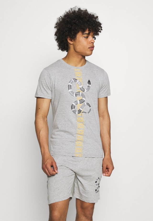 SNAKE PRINTED SET - T-shirt print - grey marl