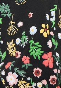 ONLY - ONLBROOKE O NECK FLOWER - Collegepaita - black - 2