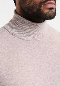 Benetton - BASIC ROLL NECK - Jumper - beige - 3