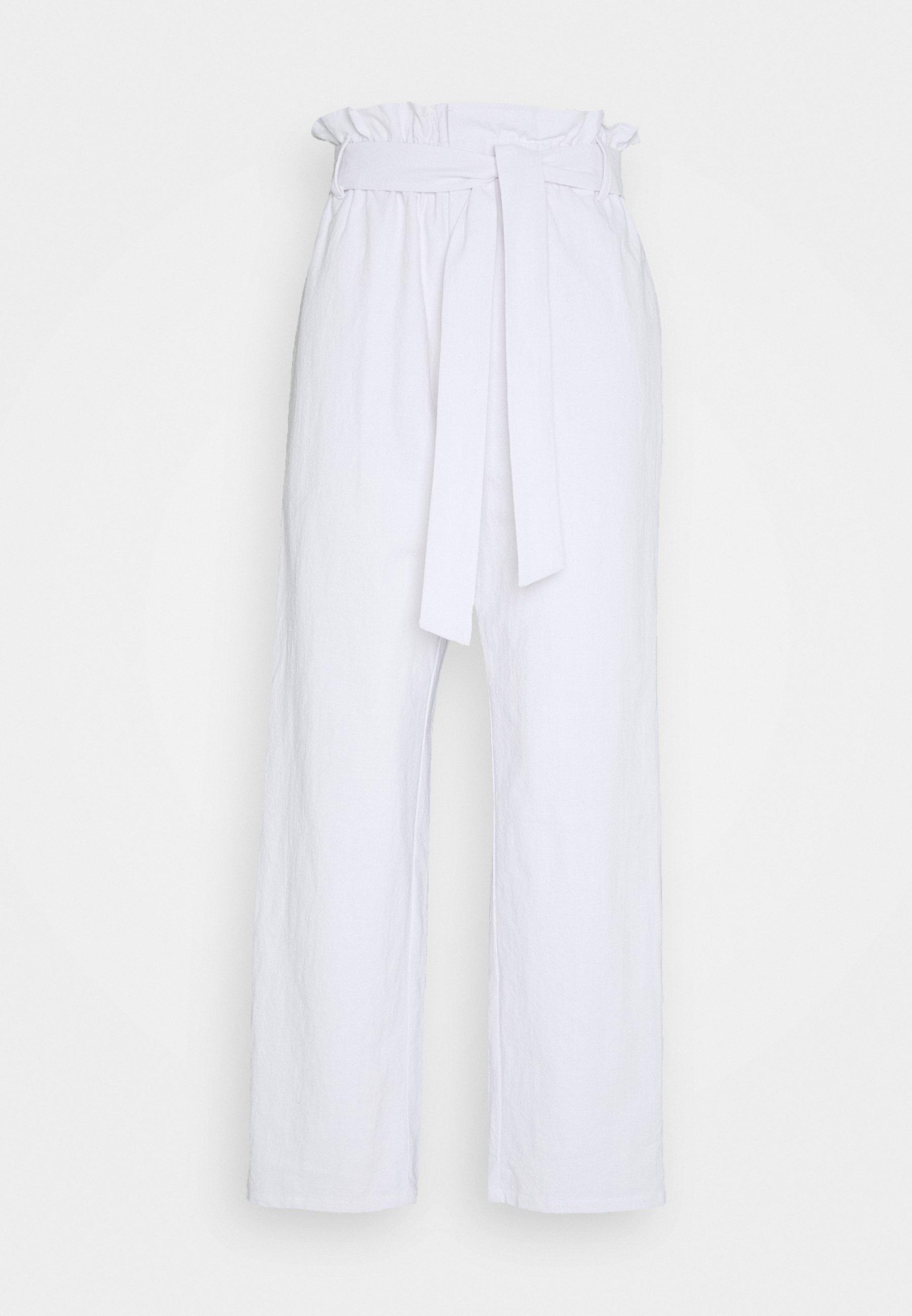 PAPER BAG PANT Bukse white