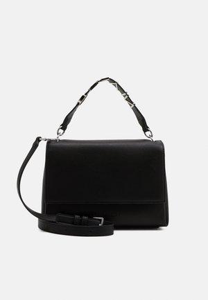 FLAP SHOULDER BAG - Handbag - black