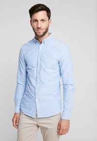 Farah - BREWER SLIM FIT - Shirt - mid blue - 0
