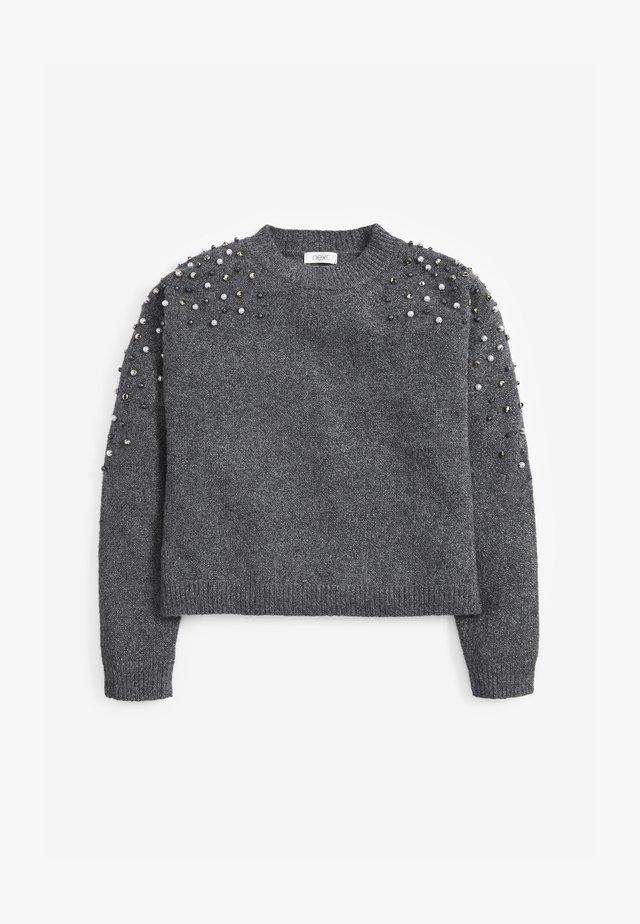 PEARL EMBELLISHED SPARKLE  - Jumper - grey