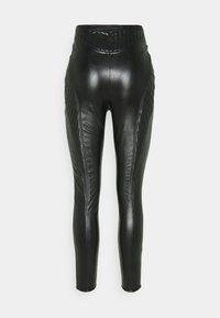Missguided - PANNELLED TROUSERS - Legging - black - 1