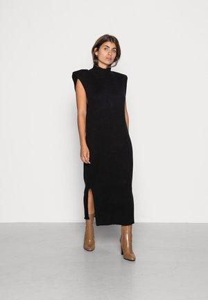 PAM DRESS - Gebreide jurk - black