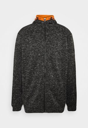 Zip-up hoodie - black mix
