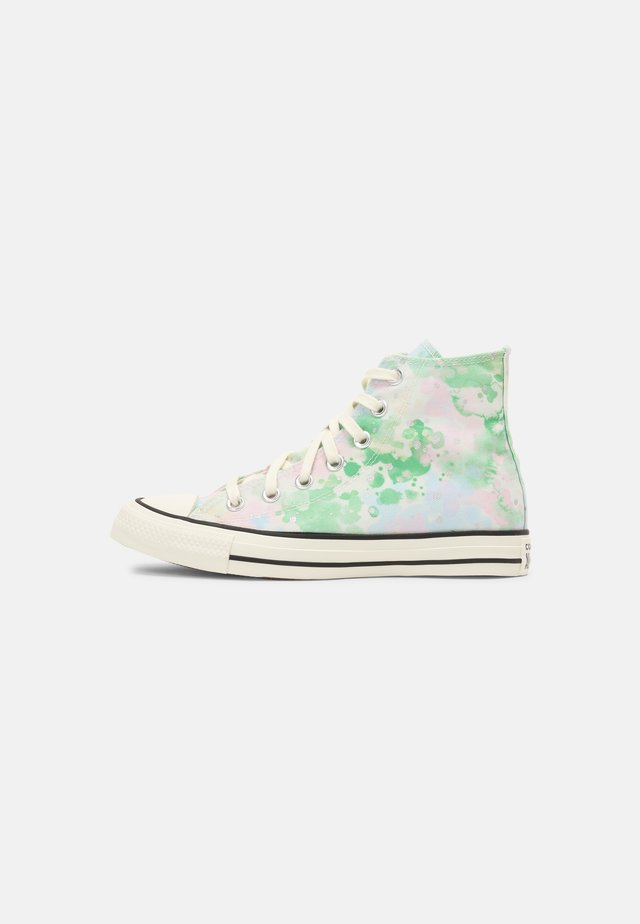 CHUCK TAYLOR ALL STAR SUMMER FEST - Sneakers hoog - egret/spring green/black