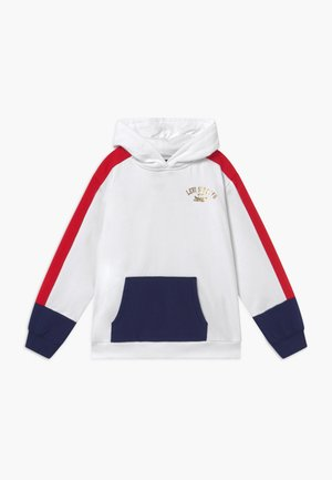 COLOR BLOCK HOODIE - Bluza z kapturem - white