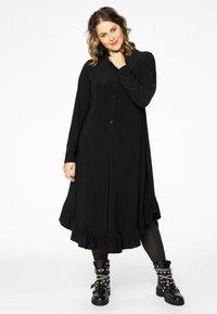 Yoek - Shirt dress - black - 0