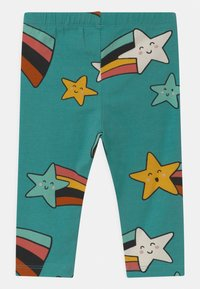 Lindex - STAR PRINT 2 PACK UNISEX - Leggings - Trousers - off black - 1