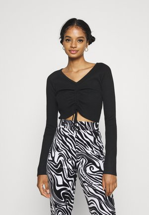 LOUNGE ROUCH FRONT - Jumper - black