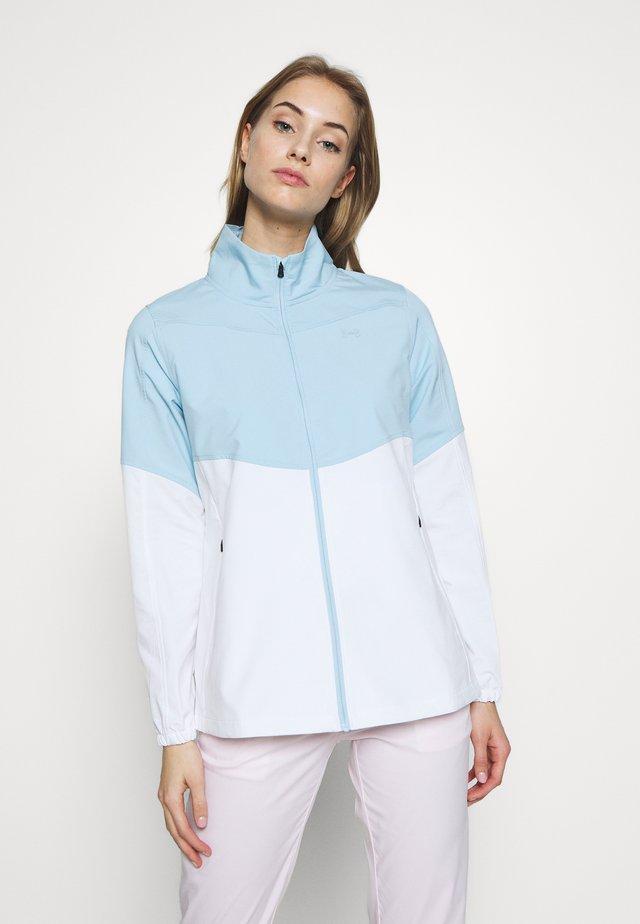 UA WINDSTRIKE FULL ZIP - Waterproof jacket - white/blue frost