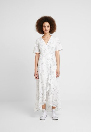 FACES I DON'T KNOW WRAP DRESS - Day dress - off white