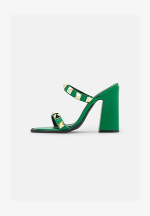 WINSLET - Heeled mules - green