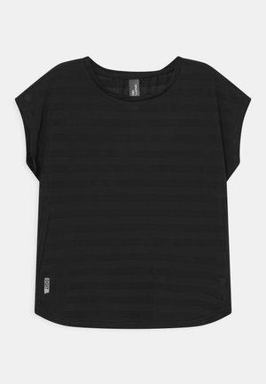 ONPANUR LOOSE SLIT TRAIN TEE  - T-shirt print - black