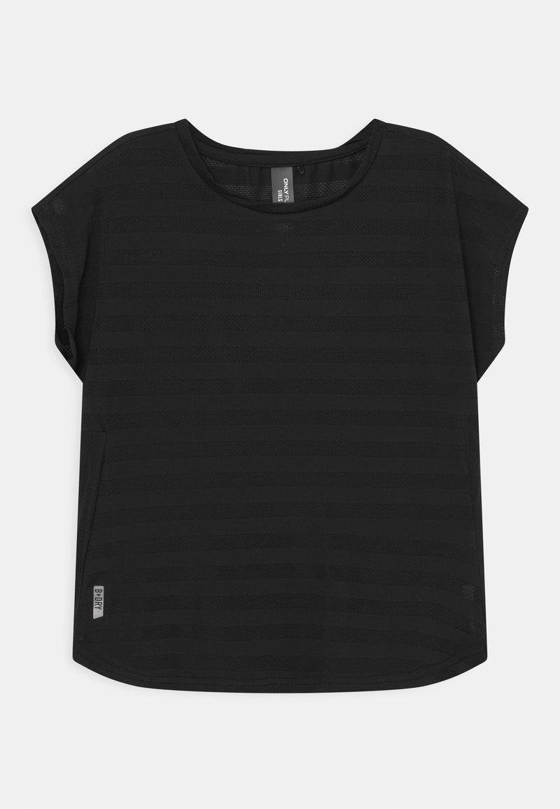 ONLY Play - ONPANUR LOOSE SLIT TRAIN TEE  - Print T-shirt - black