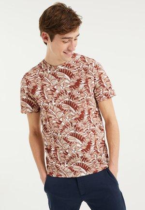 T-shirt print - rust brown