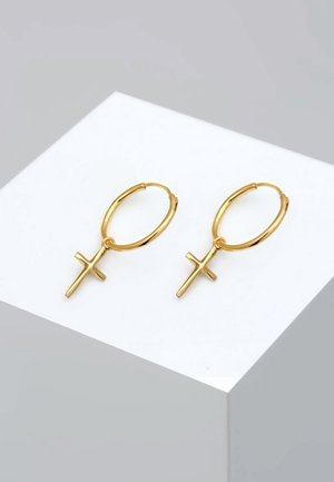 HOOPS CROSS - Pendientes - gold-coloured
