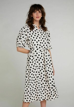 Shirt dress - white black