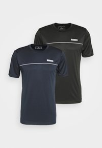 Jack & Jones Performance - JCOZSS PERFORMANCE TEE 2 PACK - Triko s potiskem - black - 4