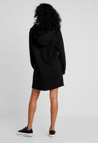Converse - HOOD DRESS ZIP-PULLER - Shirt dress - black - 2