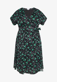 Lost Ink Plus - PRINTED KIMONO WRAP SLEEVE DRESS - Day dress - multi - 4