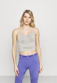 Puma - EVOKNIT SEAMLESS CROP - Camiseta de deporte - lunar rock - 0