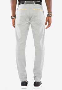 Cipo & Baxx - MIT ZIERNÄHTE - Trousers - grey - 2