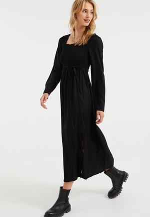 GESMOKTE - Day dress - black