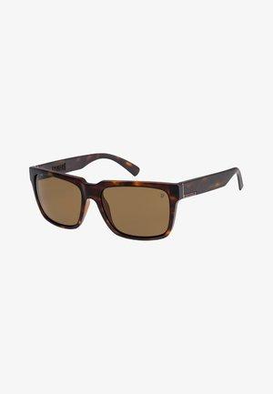 BRUISER  - Sunglasses - matte tortoise/ brown polarize