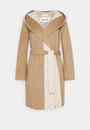 COOPER - Classic coat - camel/ivory