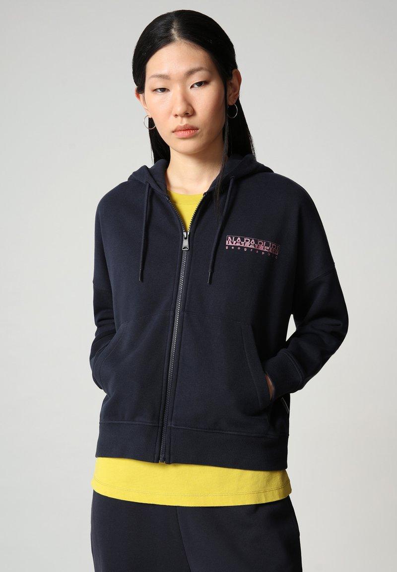 Napapijri - BILEA  - Zip-up sweatshirt - blu marine