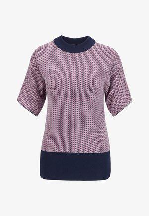 Print T-shirt - pink/blue