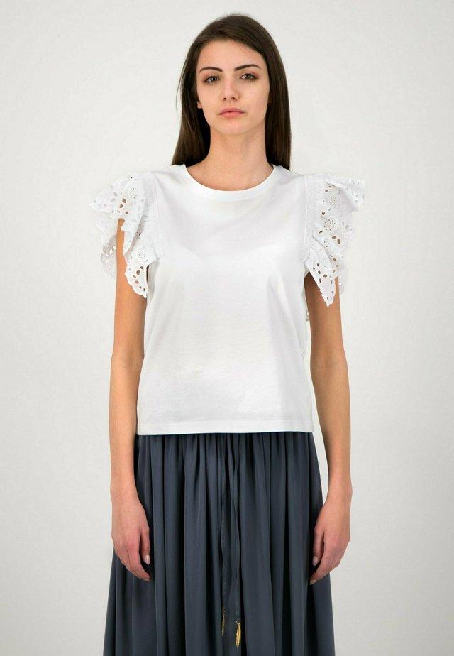 VOLANT - T-shirt print - white