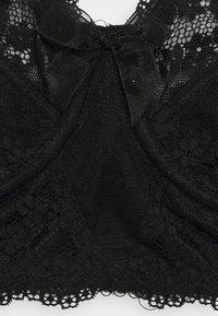 Pour Moi - FLORA LONGLINE UNDERWIRED BRA - Underwired bra - black - 2