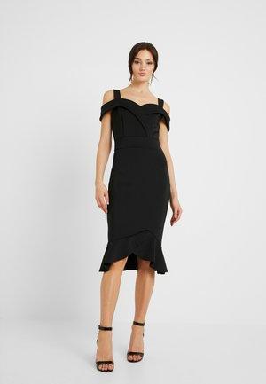 FRILL MIDI DRESS - Cocktail dress / Party dress - black