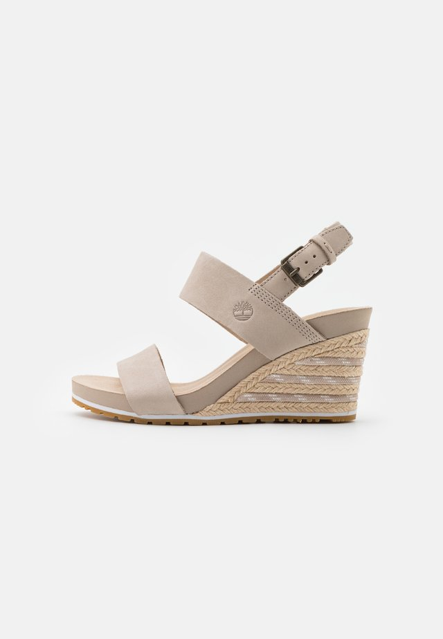 CAPRI SUNSET WEDGE - Sandalen met sleehak - light beige