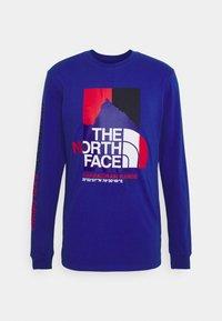 The North Face - KARAKORAM GRAPHIC TEE - Long sleeved top - blue - 0