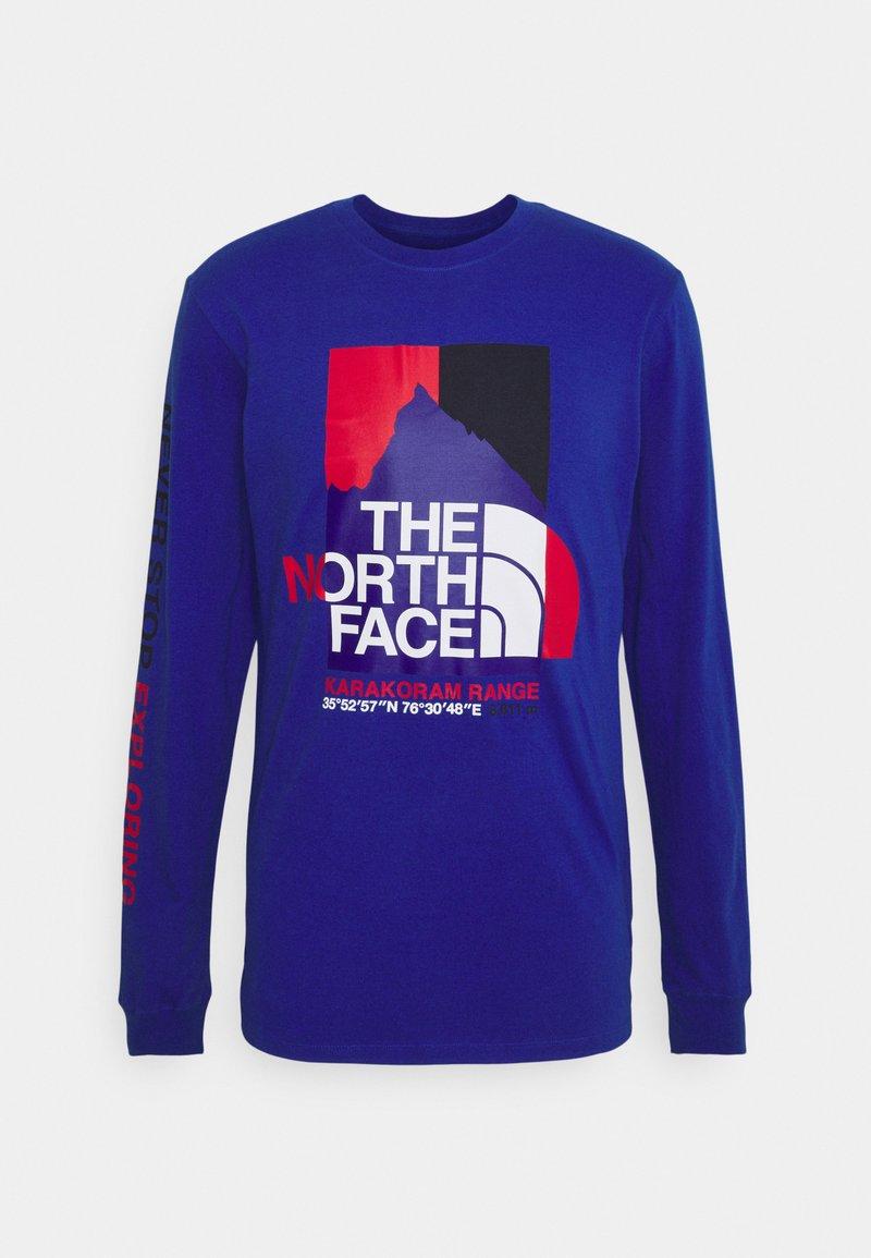 The North Face - KARAKORAM GRAPHIC TEE - Long sleeved top - blue