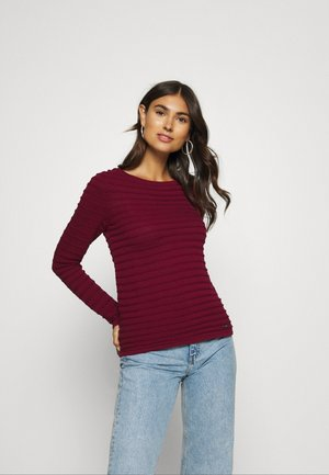 Sweter - bordeaux red