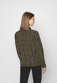 ONLY - ONLJESS SMOCK TOP  - Button-down blouse - black/yellow - 2