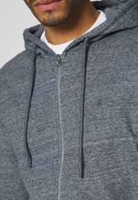 Jack & Jones - JJEBASIC ZIP HOOD - Zip-up hoodie - maritime blue melange - 3