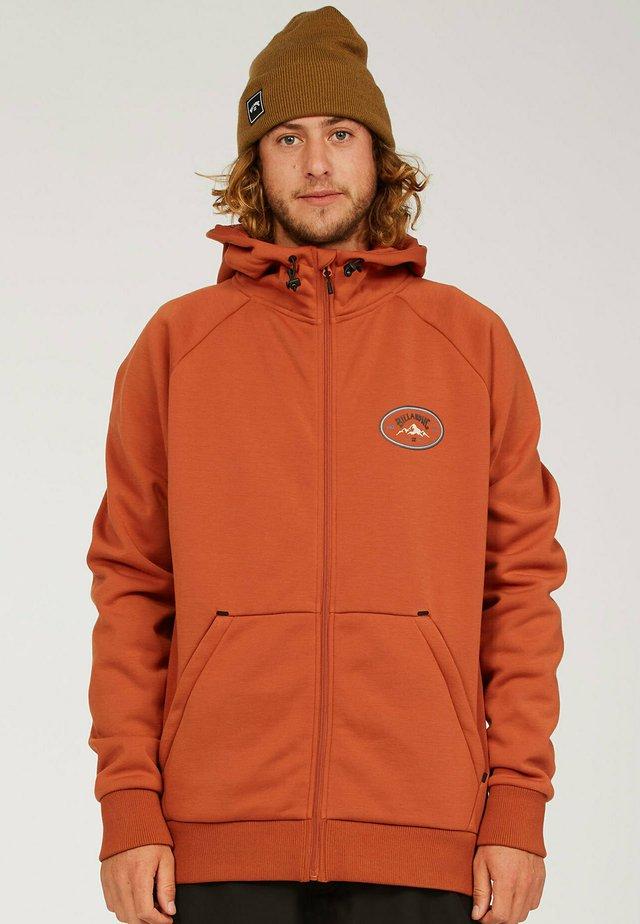Zip-up sweatshirt - auburn