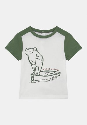 T-shirt con stampa - marshmallow/vallee