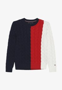 Tommy Hilfiger - CABLE COLORBLOCK  - Strikpullover /Striktrøjer - blue - 2