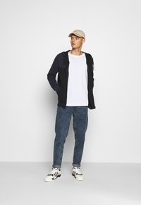 Calvin Klein - COLOR BLOCK ZIP THROUGH HOODIE - Felpa aperta - blue - 1