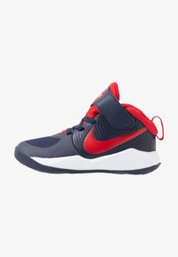 Nike Performance - TEAM HUSTLE 9  - Basketbalové boty - midnight navy/university red/white - 1