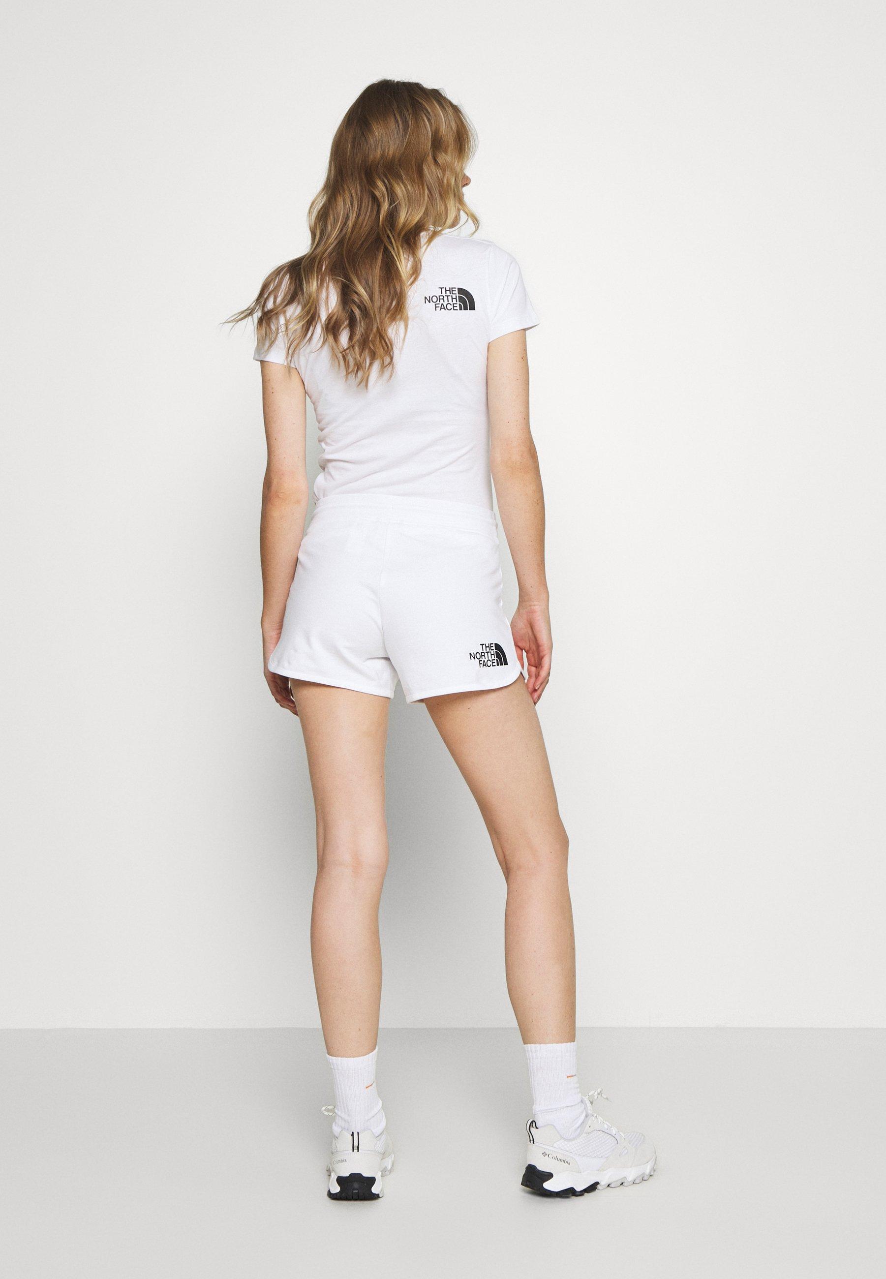 Los Más Valorados Ropa de mujer The North Face RAINBOW SHORT Pantalón corto de deporte white tI4I3A