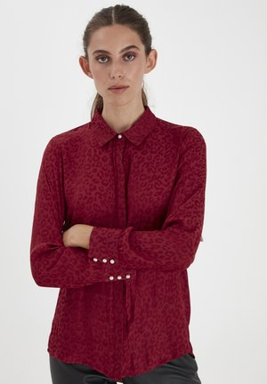 Button-down blouse - biking red