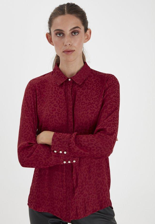 Button-down blouse - biking red